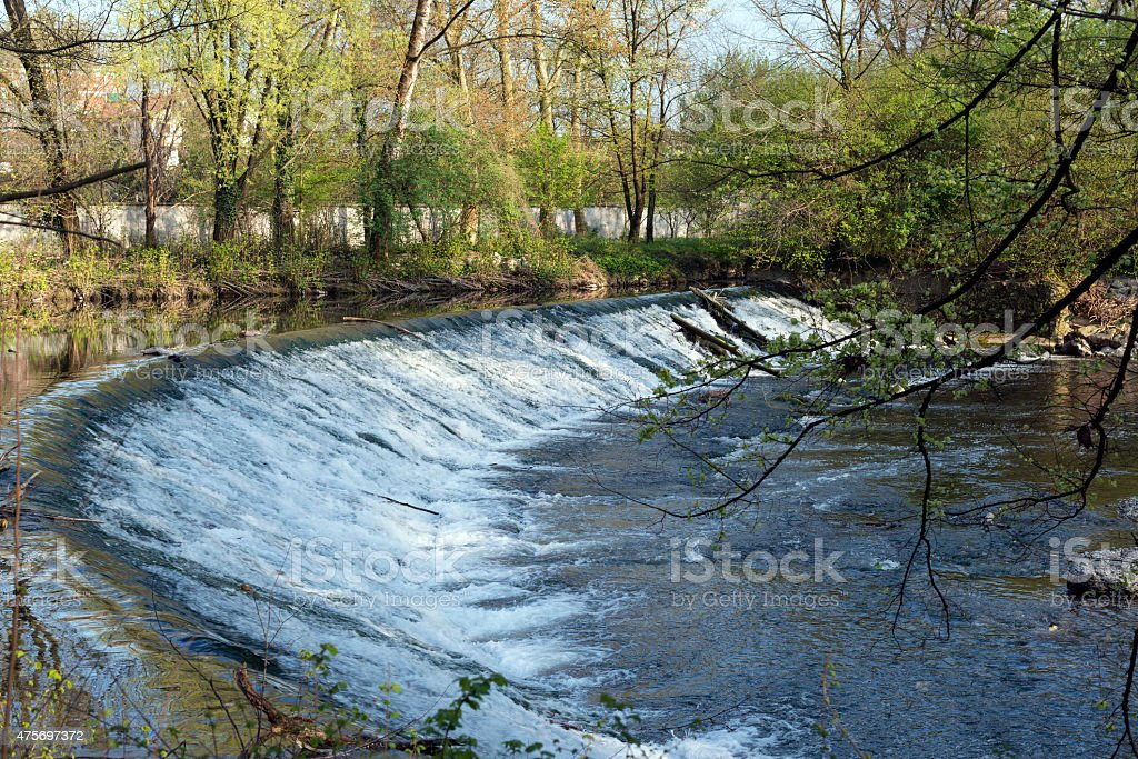Monza Park: cascade stock photo