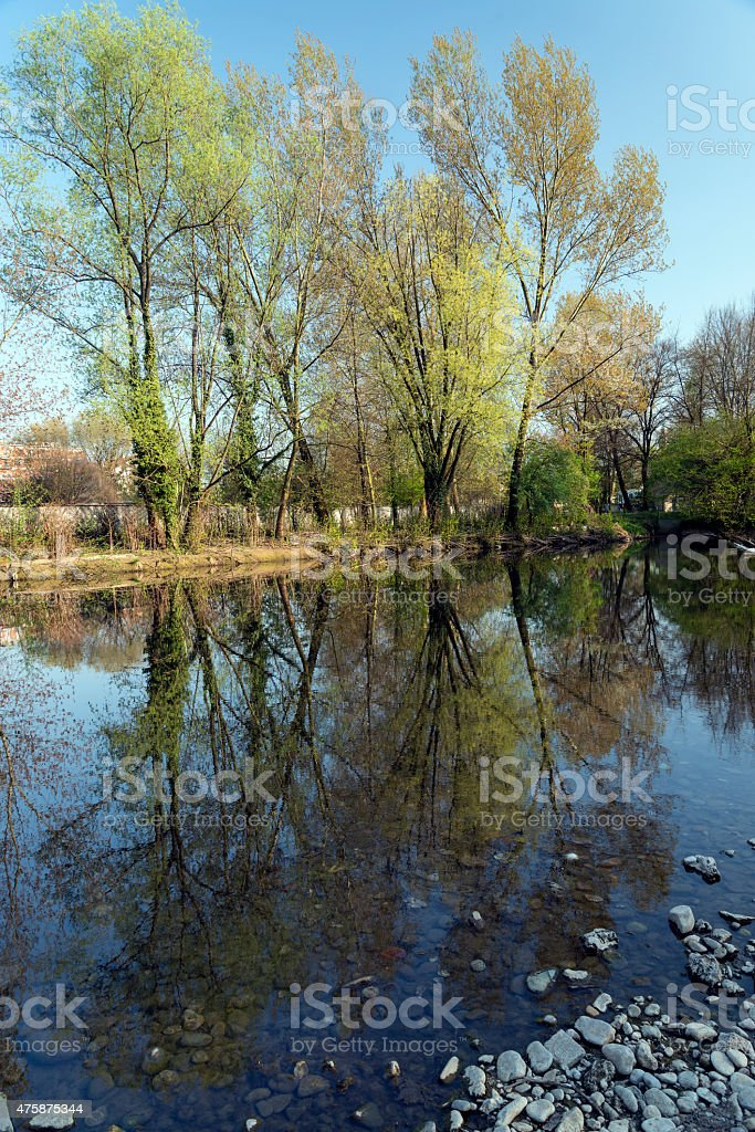 Monza Park: Lambro river stock photo