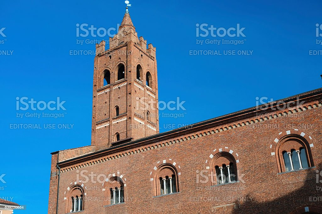 Monza (Italy), the Arengario, medieval building stock photo