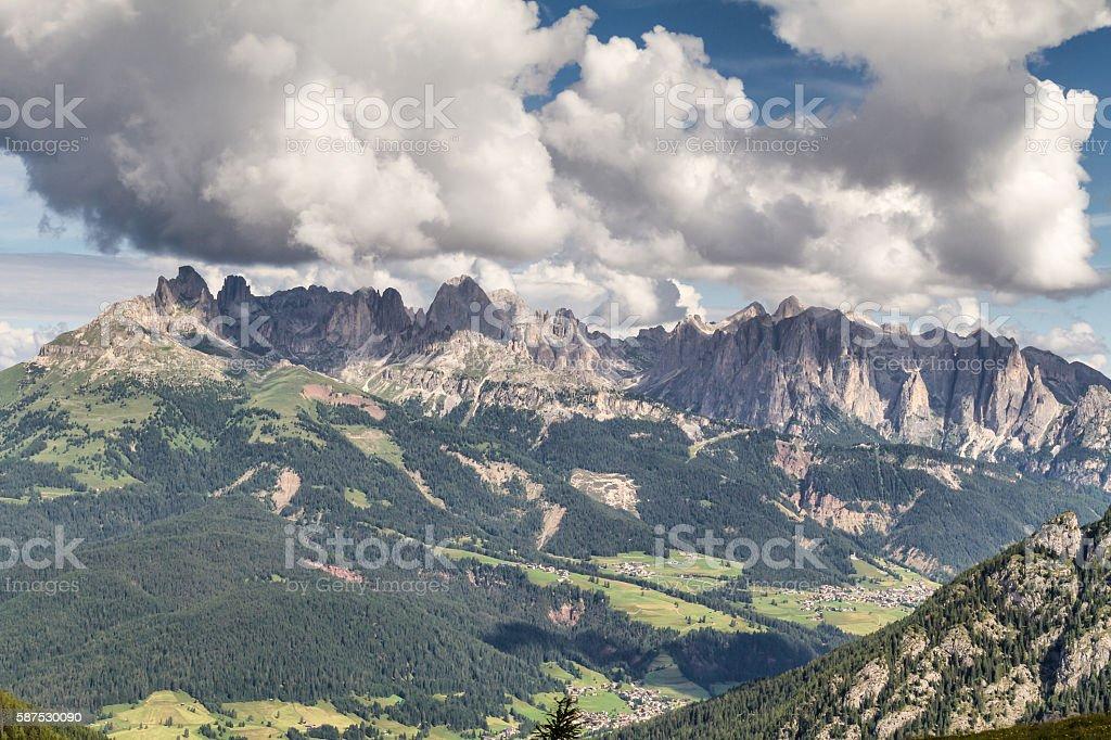Monzoni, Rizzoni and Costabella Mountains - Trentino - Italy stock photo