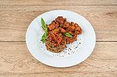 Moo shu pork with rice