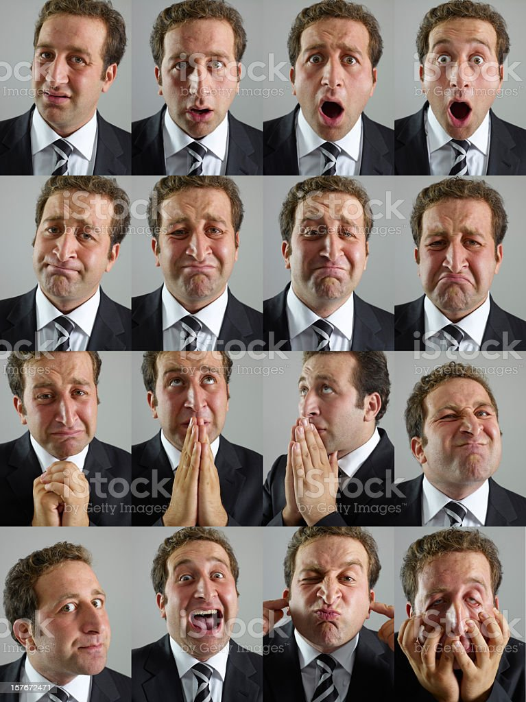 Moods and Facial Expressions royalty-free stock photo