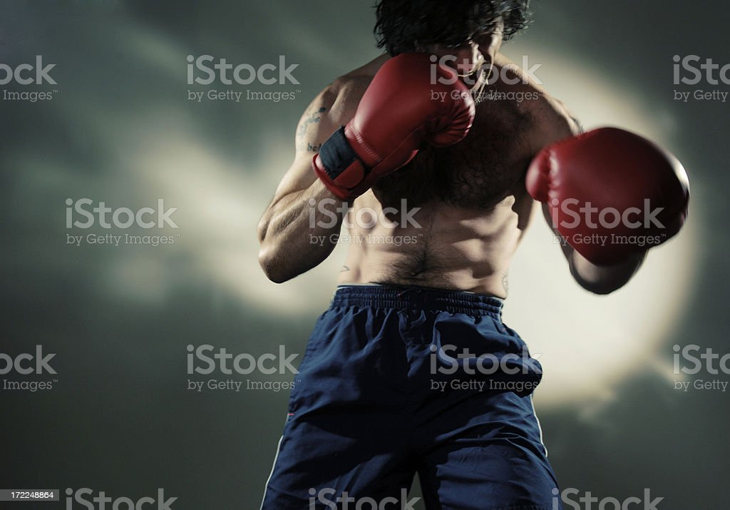 moody boxing series stock photo