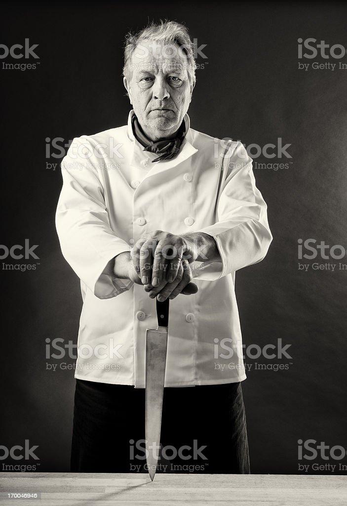 Moody Chef royalty-free stock photo