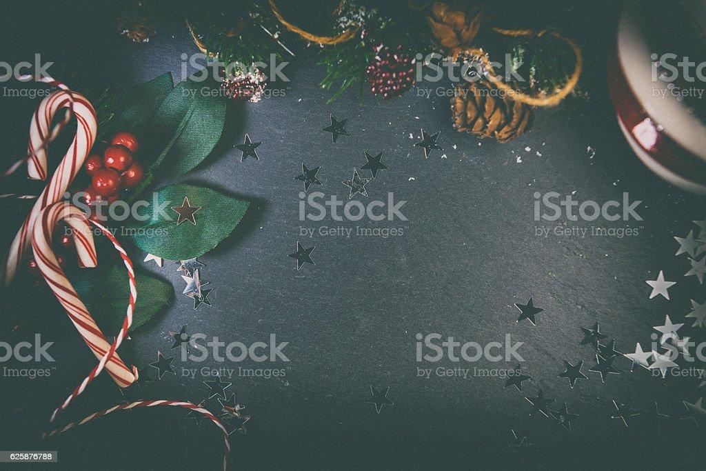 Moody Christmas Background stock photo