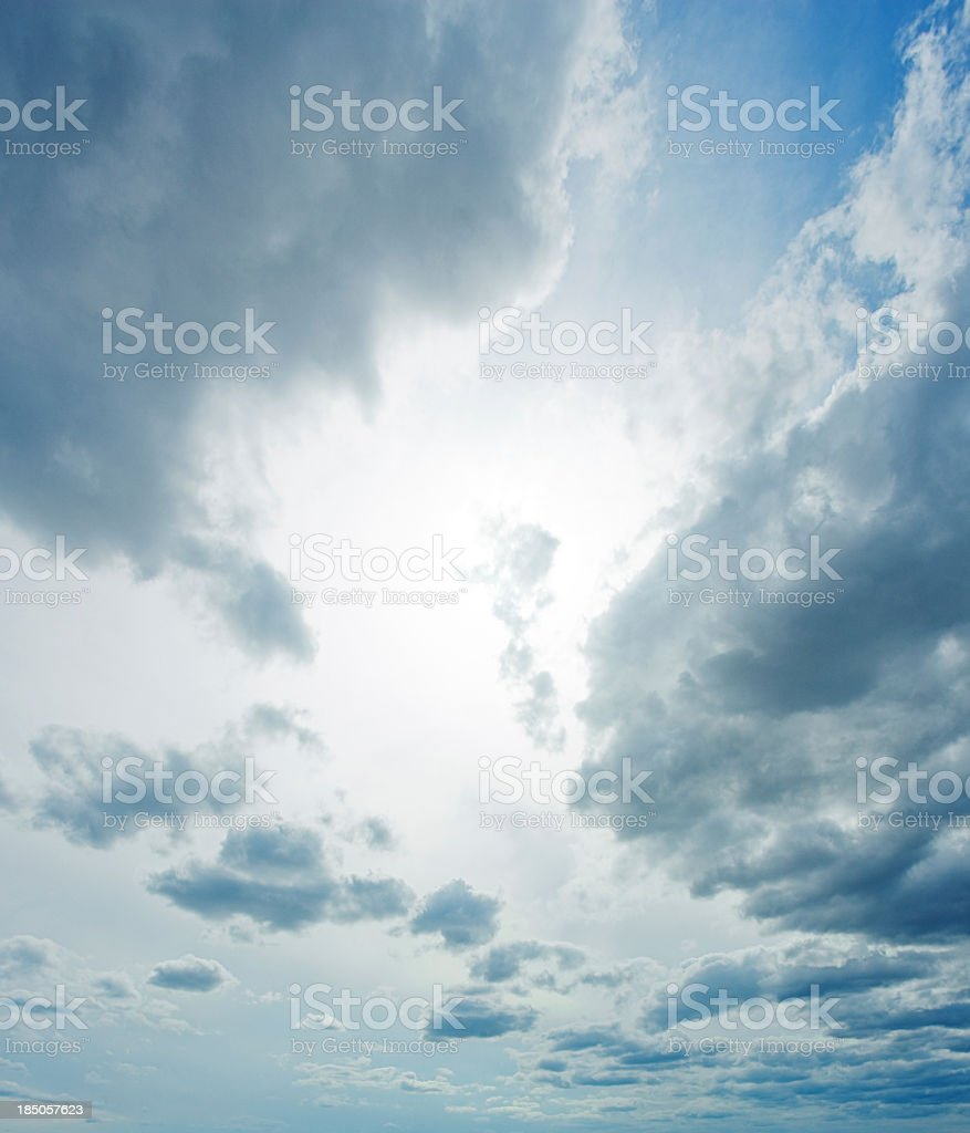 Moody clouds. stock photo