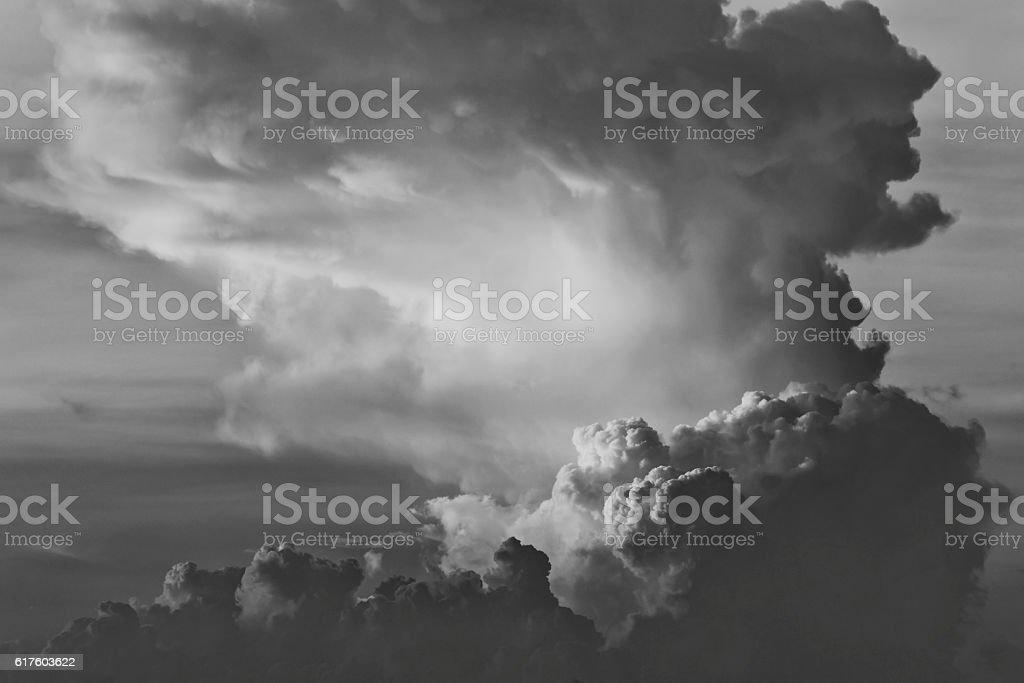 moody cloudscape stock photo