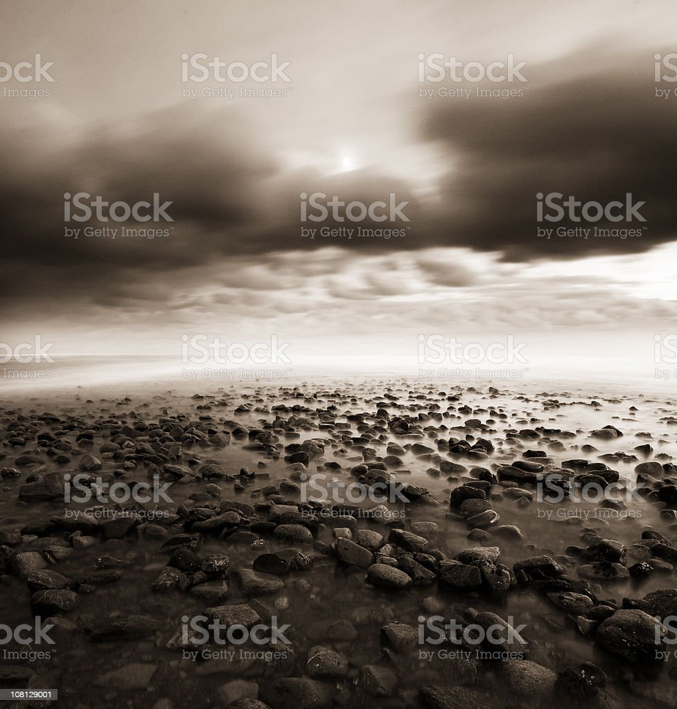 Moody Coast royalty-free stock photo