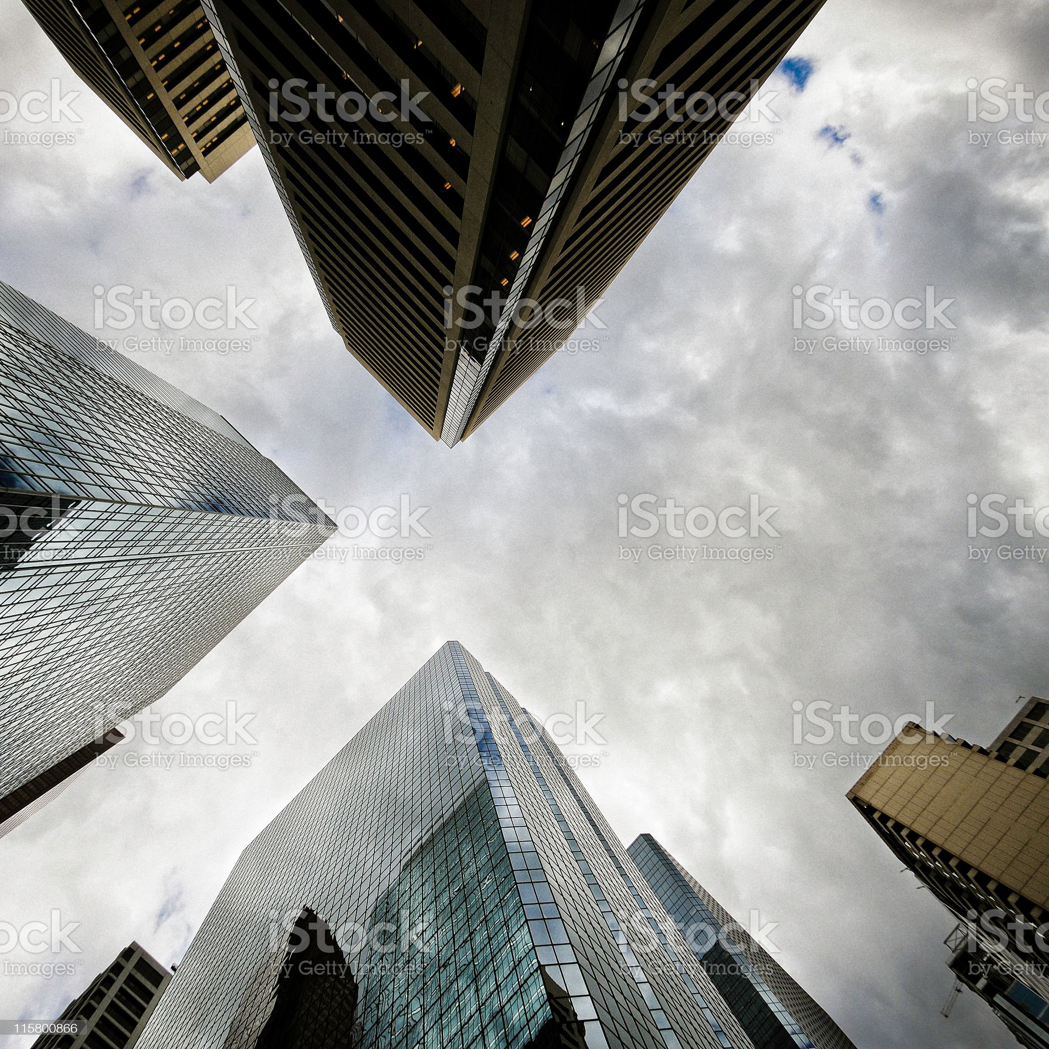Moody corporate structures royalty-free stock photo