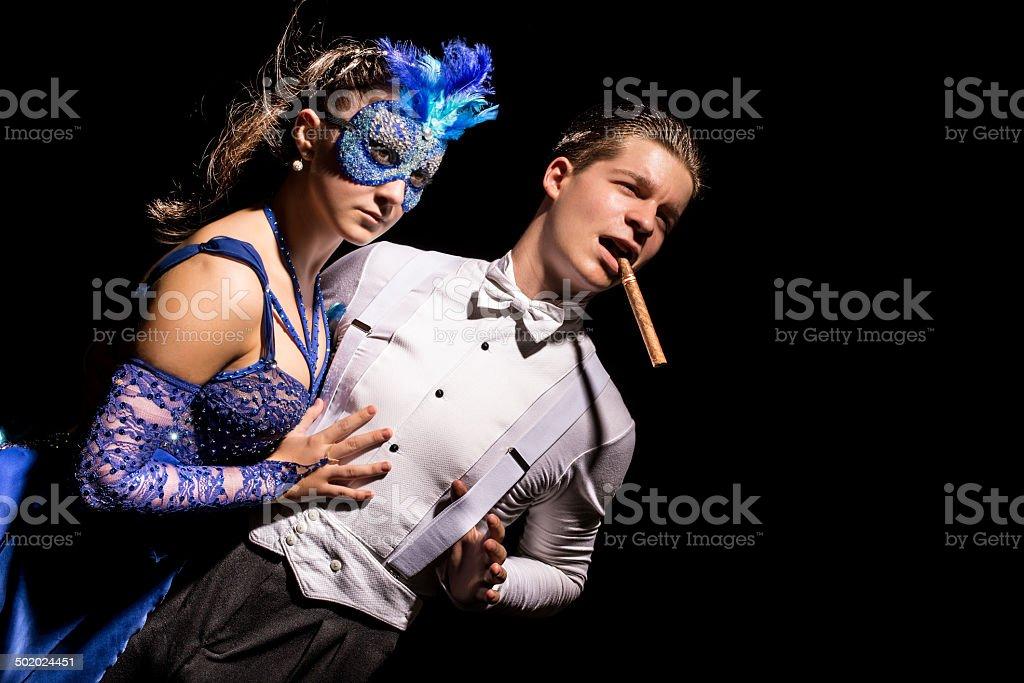 Moody couple's portrait stock photo