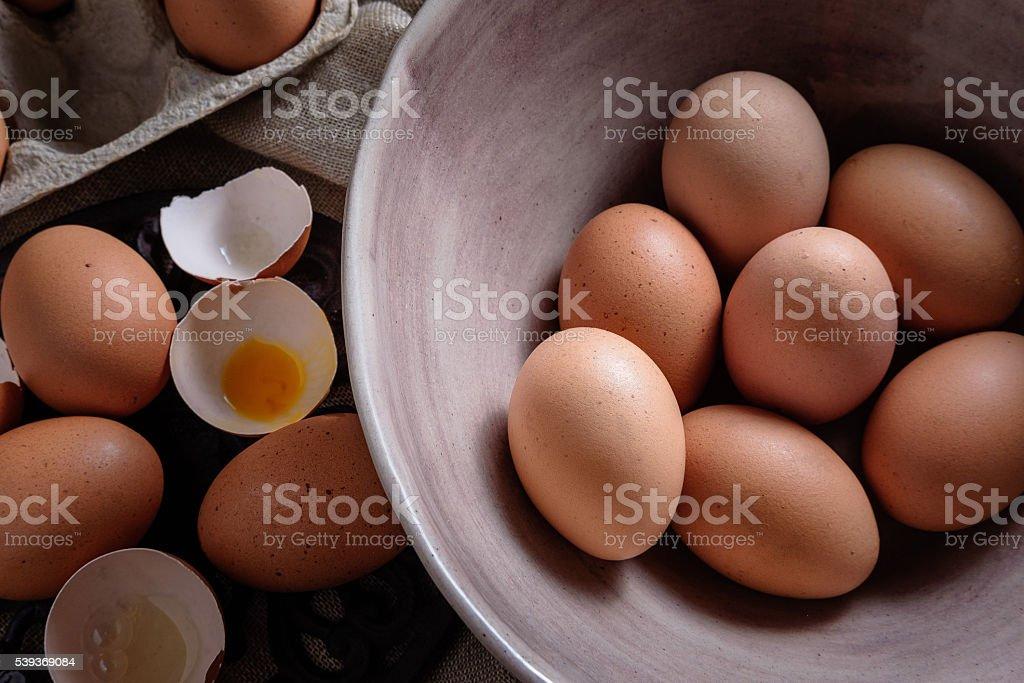 Moody eggs stock photo