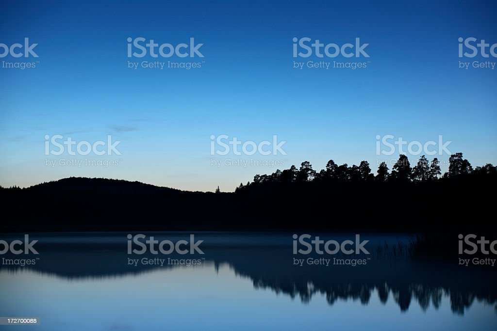 Moody Lake after Sunset royalty-free stock photo