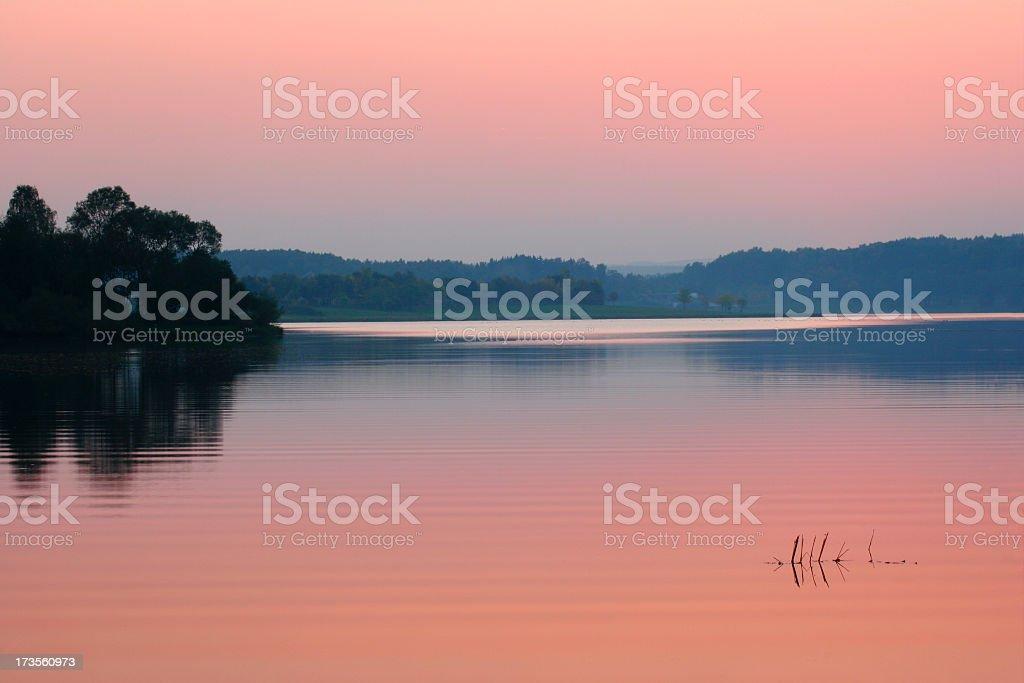 Moody Lake at Dusk royalty-free stock photo