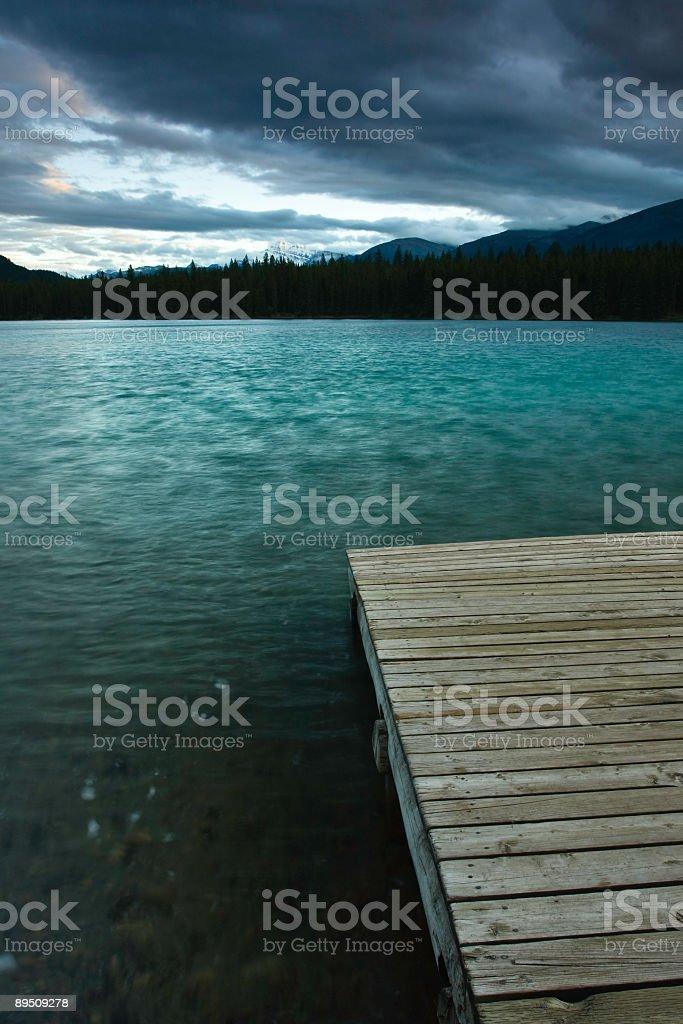 Moody Lake royalty-free stock photo