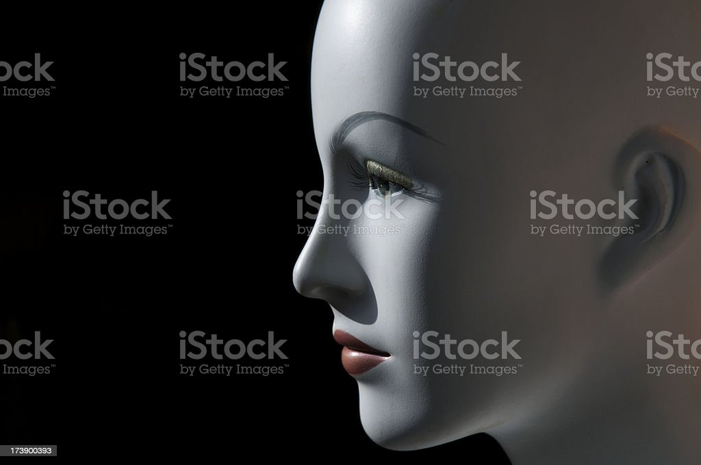 Moody Mannequin Stares into Space royalty-free stock photo
