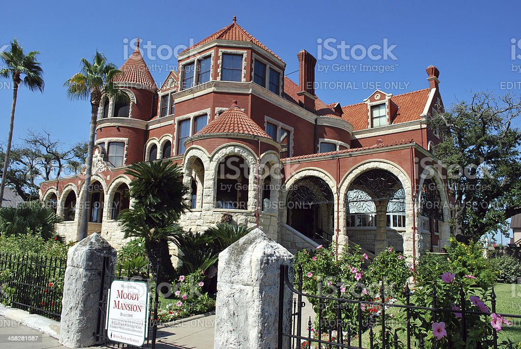 Moody Mansion - Galveston, Texas stock photo