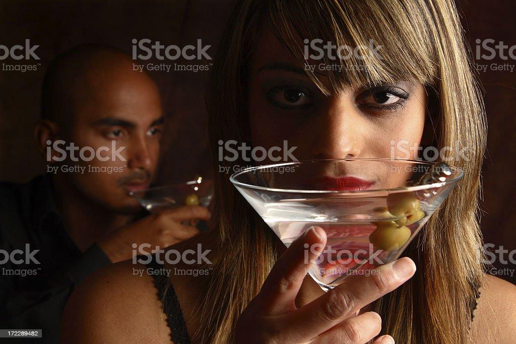 Moody Martinis royalty-free stock photo