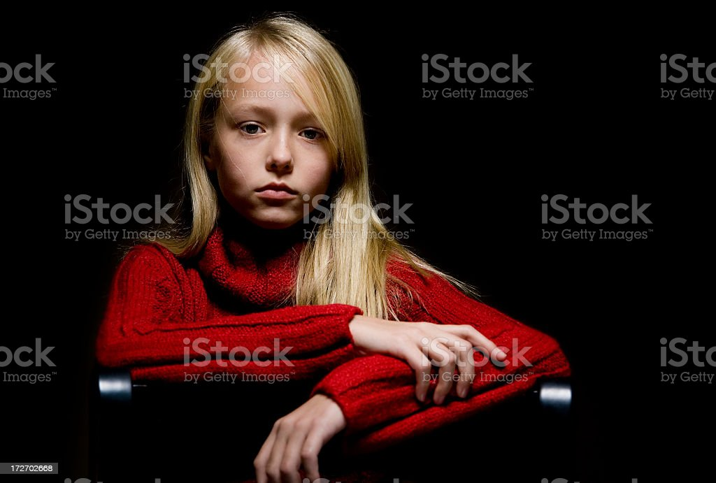 Moody Portrait of Young Girl royalty-free stock photo