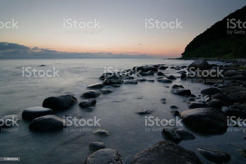 Moody Sea royalty-free stock photo