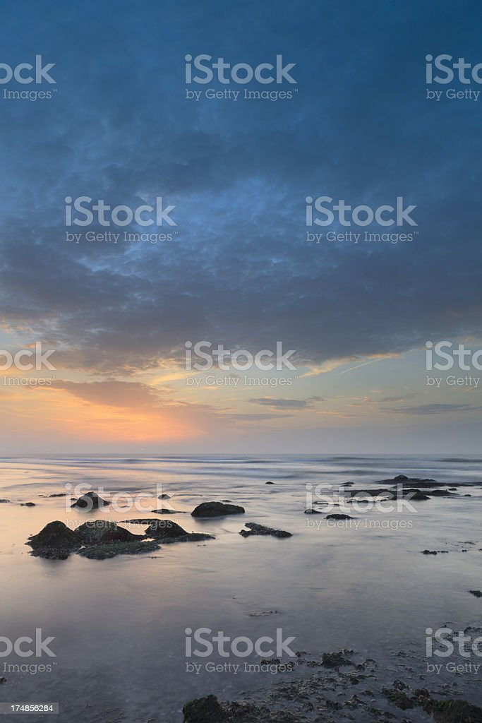 moody seascape just before sunset royalty-free stock photo