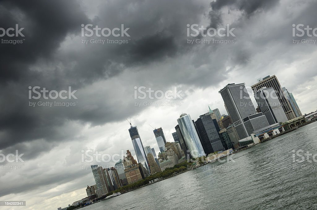 Moody Skies over New York City royalty-free stock photo