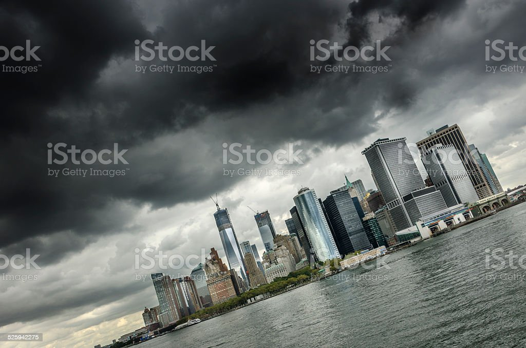 Moody Skies over New York City stock photo