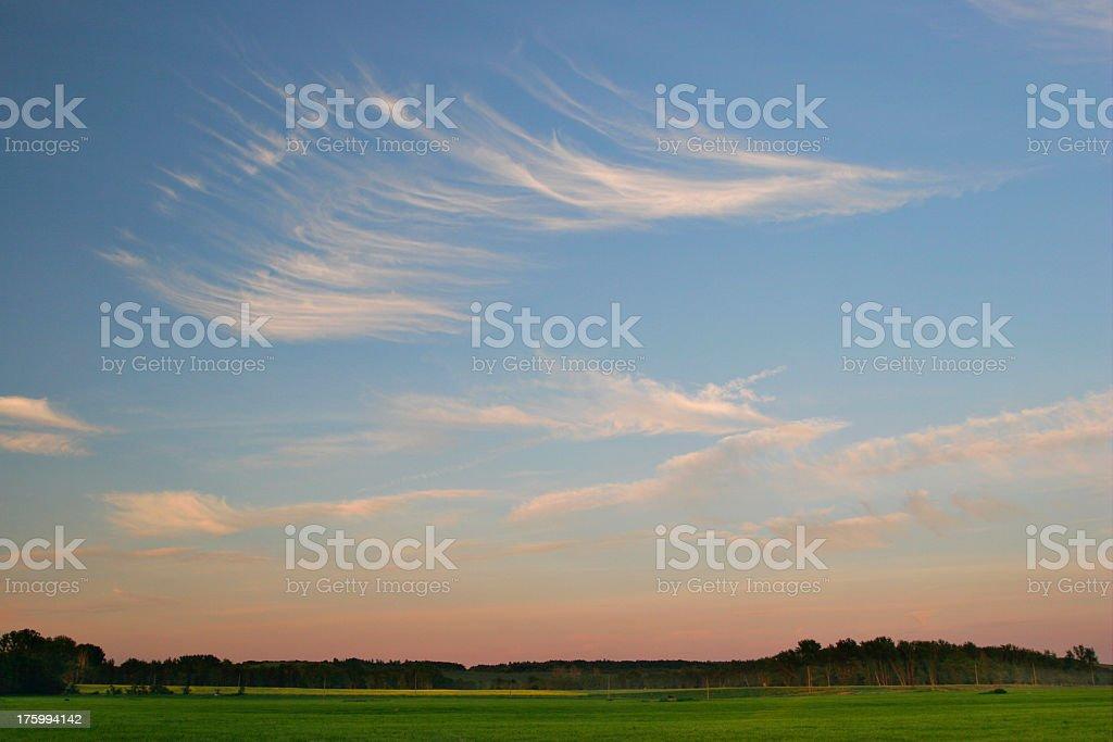 Moody Sky at Dusk stock photo