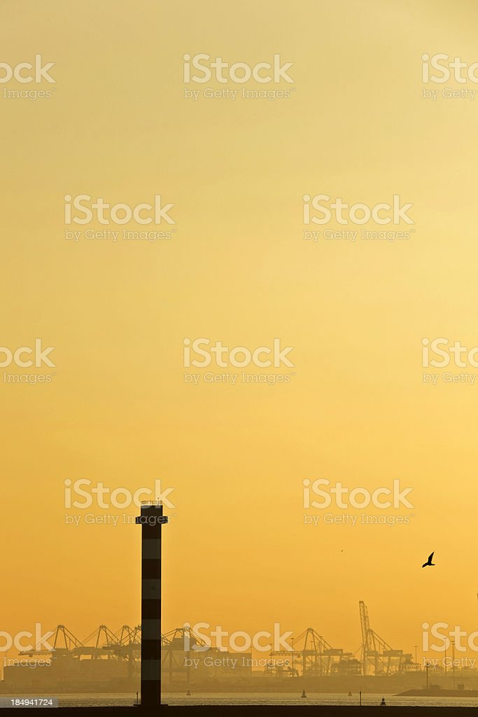 moody sky over an industrial area royalty-free stock photo
