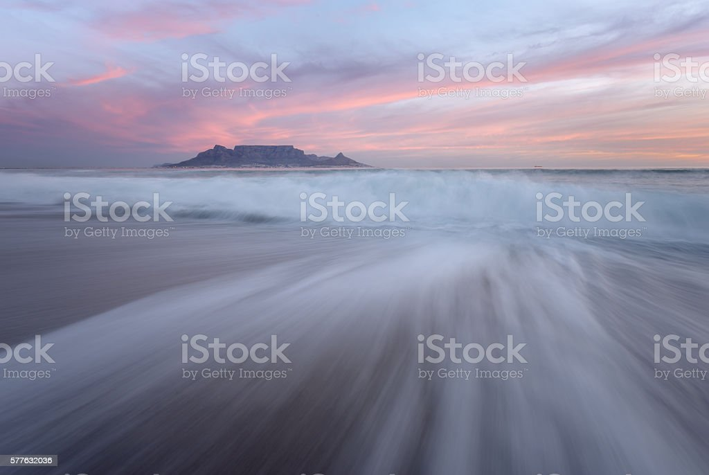 Moody Table Mountain stock photo