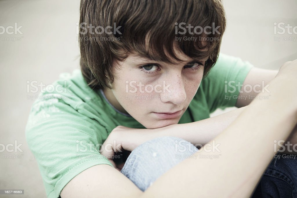 Moody Teen stock photo