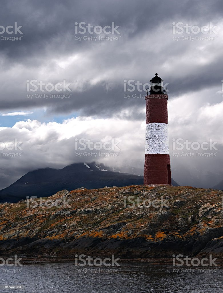 Moody Les Eclaireurs Lighthouse stock photo