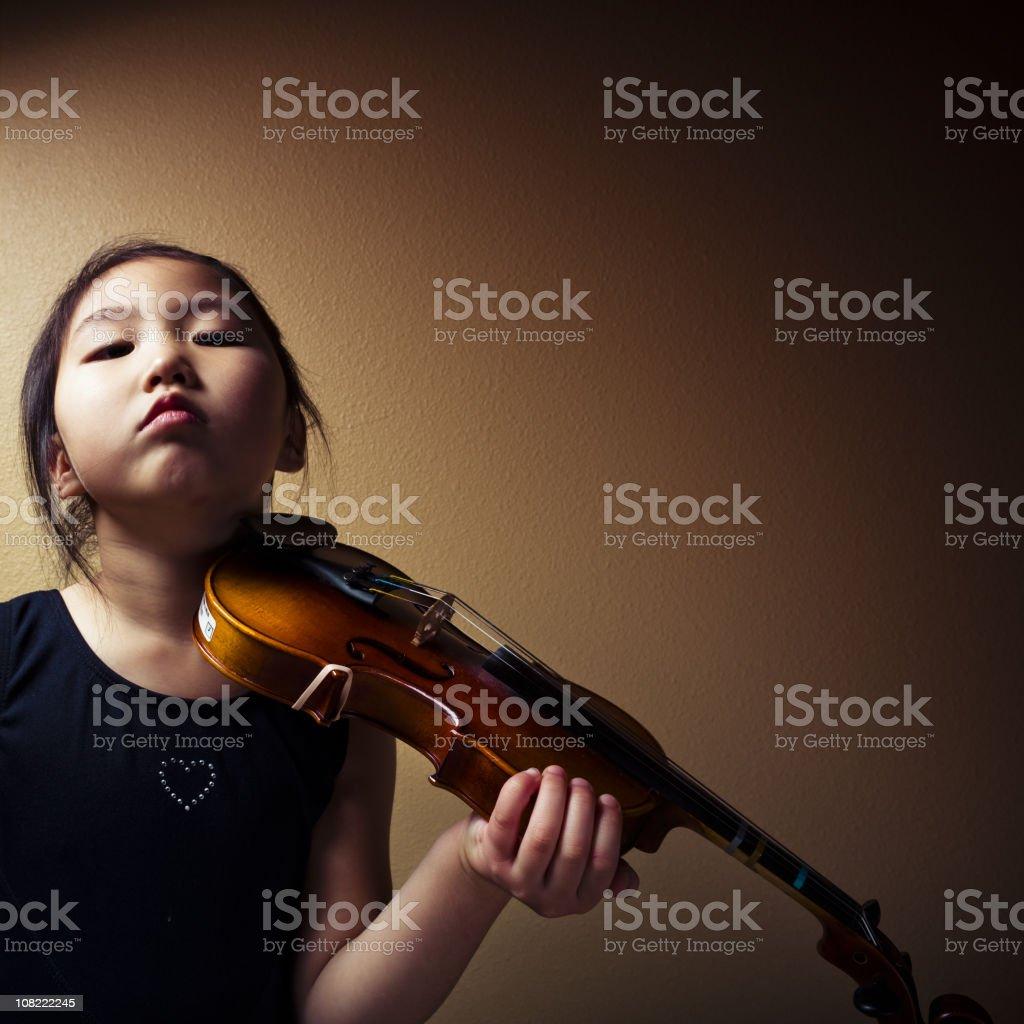 Moody Violinist royalty-free stock photo