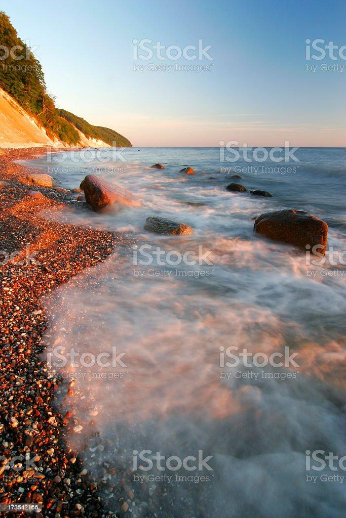 Moody Waves royalty-free stock photo
