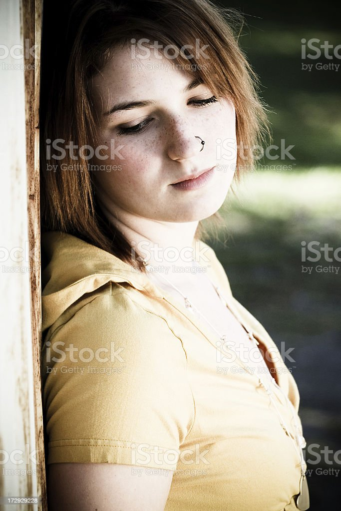 Moody Youth Portrait royalty-free stock photo