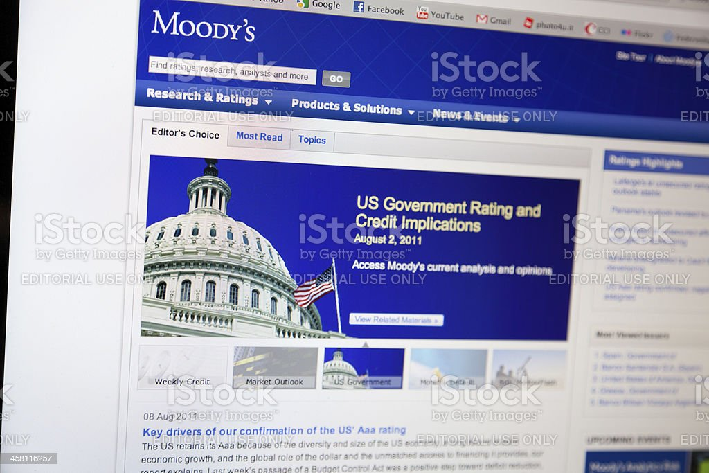 Moody's Home Page stock photo