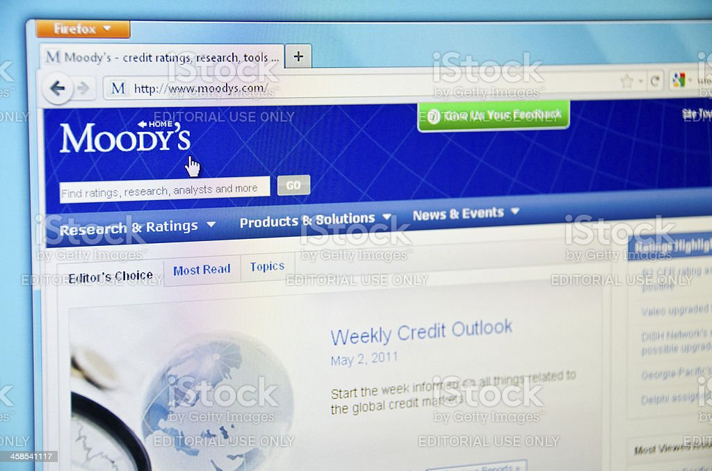Moody's website stock photo