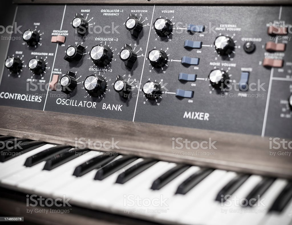 Moog synthesizer royalty-free stock photo