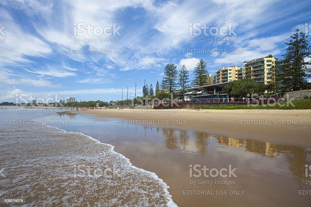 Mooloolaba beach, Queensland stock photo