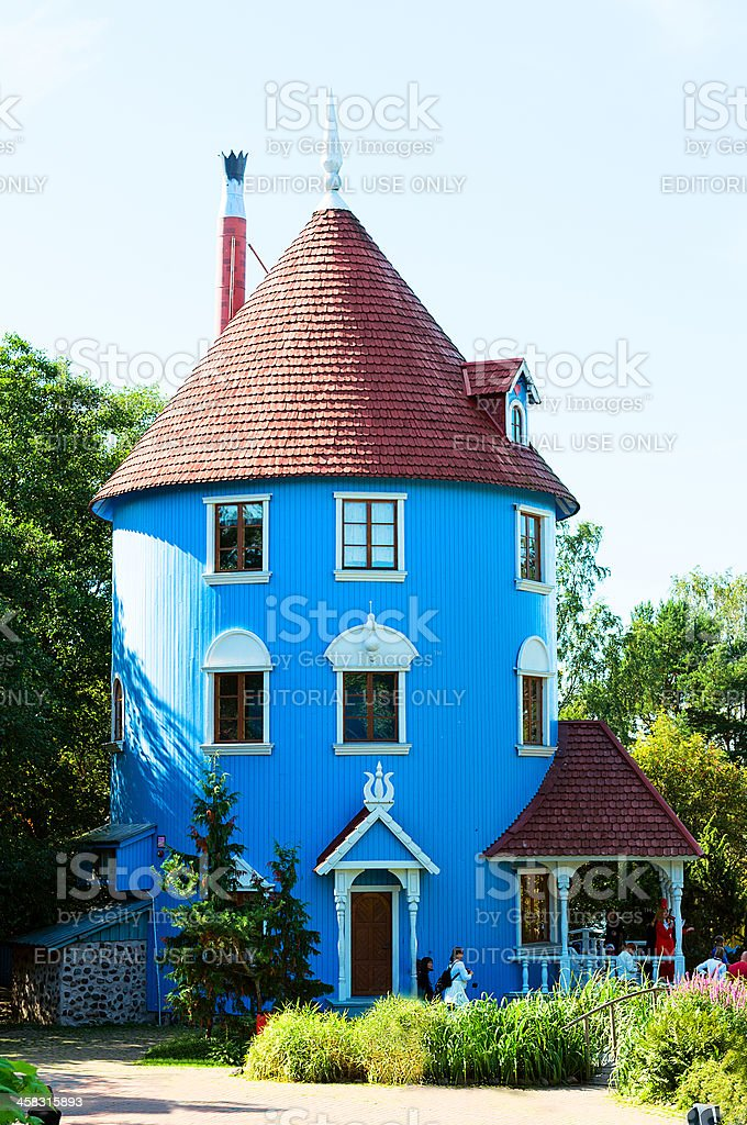 Moomi house in Moominworld.Finland royalty-free stock photo