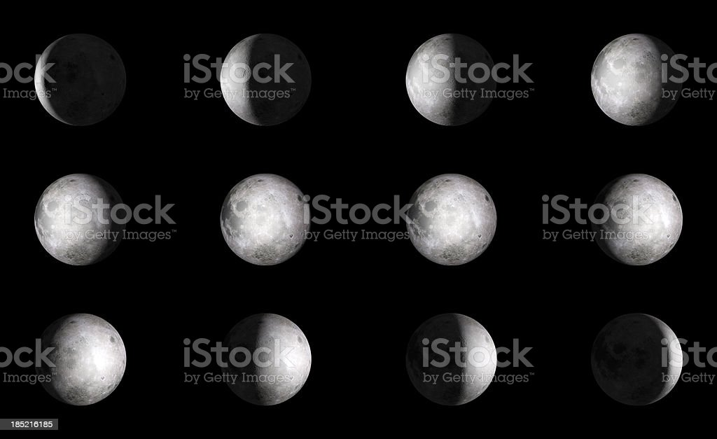 Moon 12 steps royalty-free stock photo