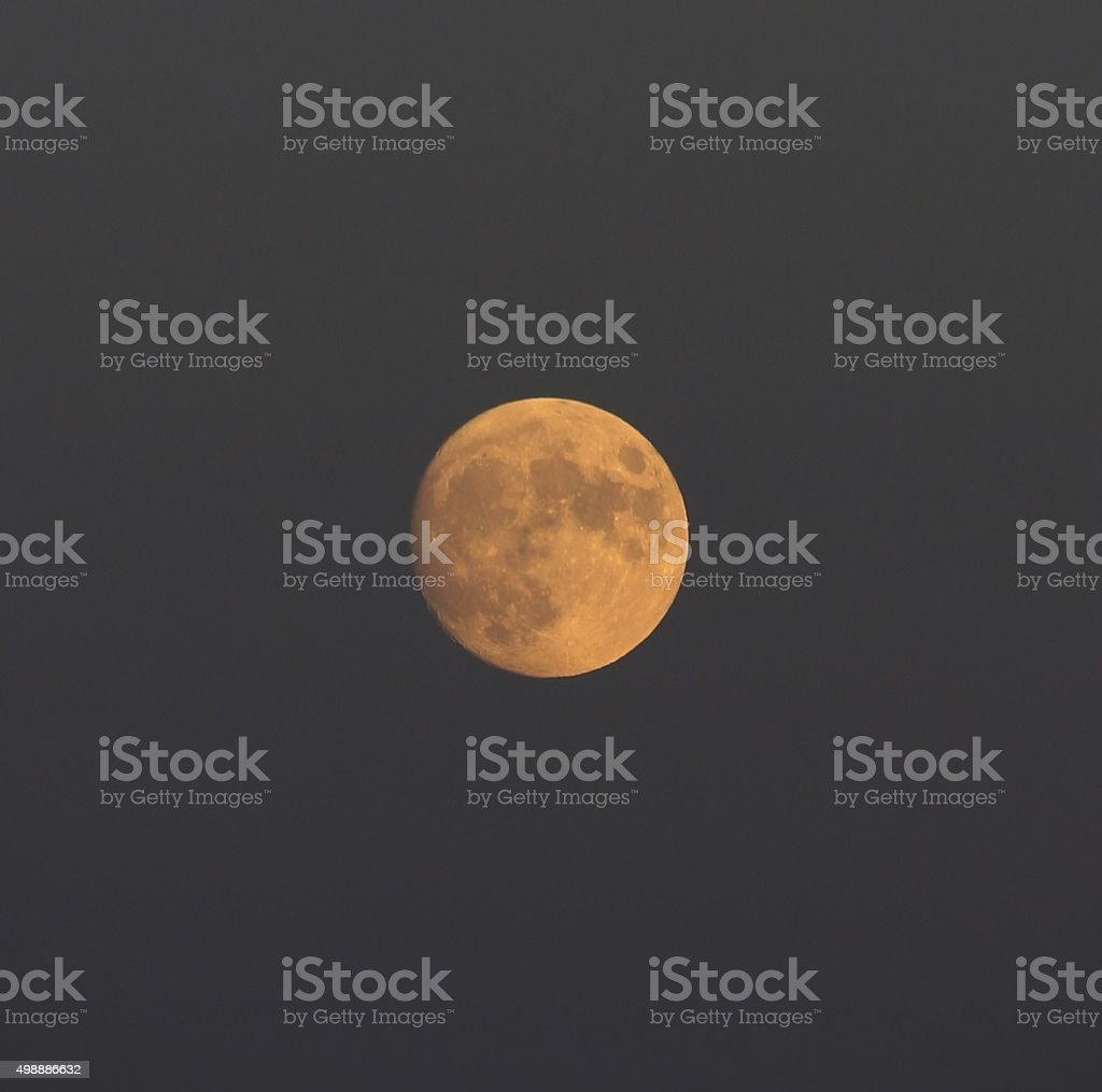 Moon afternoon stock photo