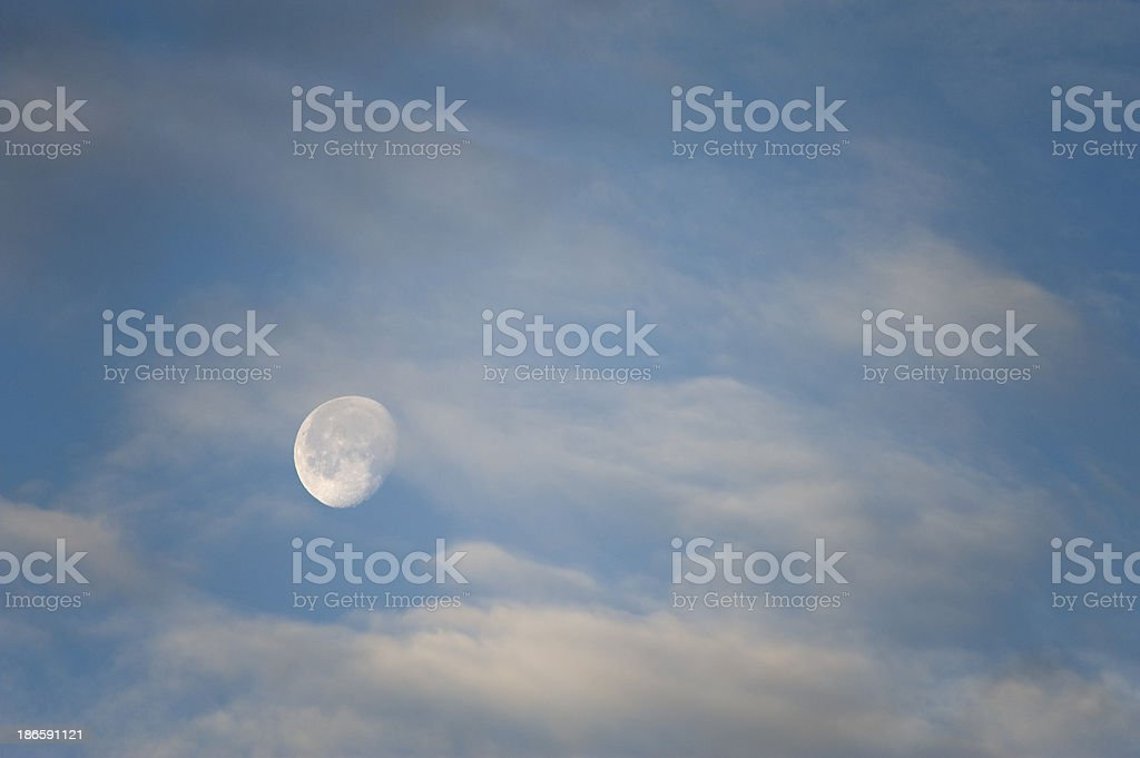 Moon And Cloud royalty-free stock photo
