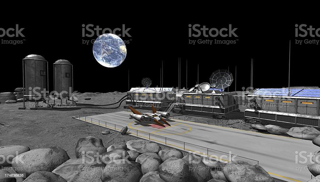 moon  base royalty-free stock photo