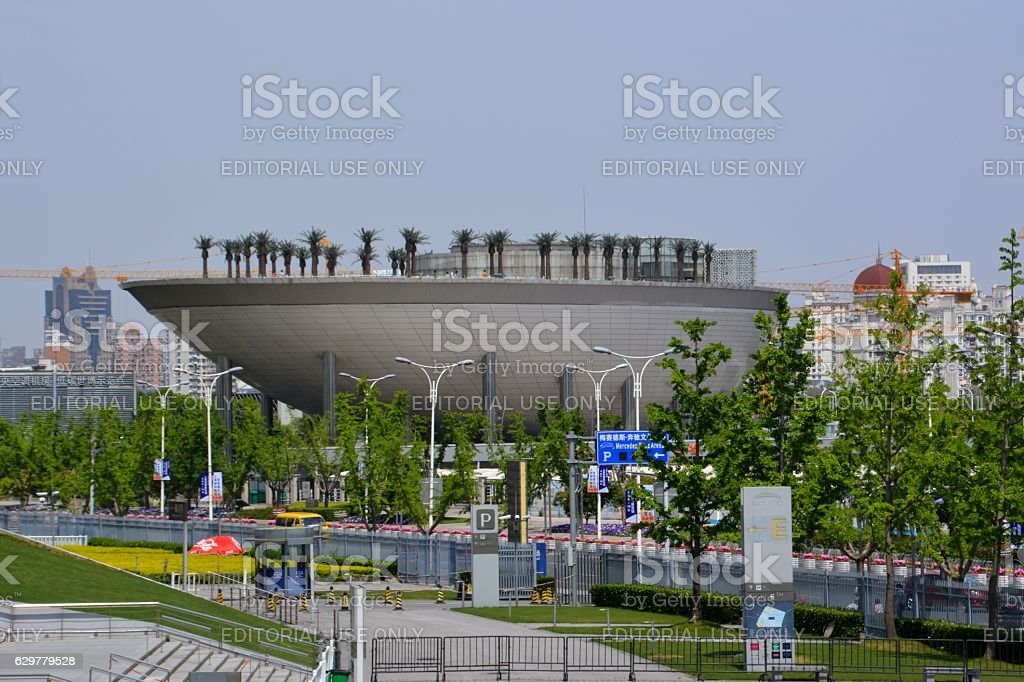 Moon Boat at the former expo site, Shanghai, China stock photo