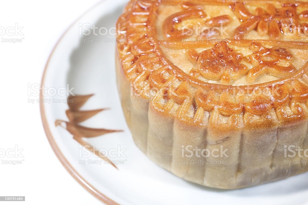 Moon cakes. Traditional food for the Chinese mid Autumn festival royalty-free stock photo