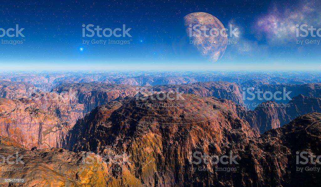 Moon Canyons stock photo