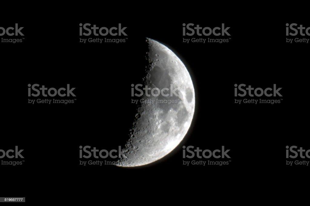 Moon close-up stock photo