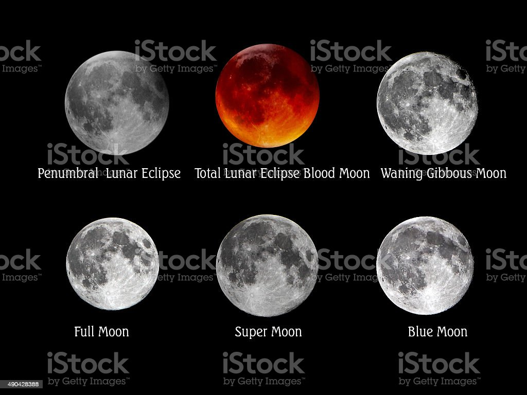 Moon Collection stock photo
