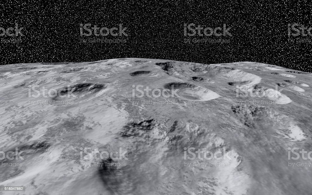 Moon Crater stock photo