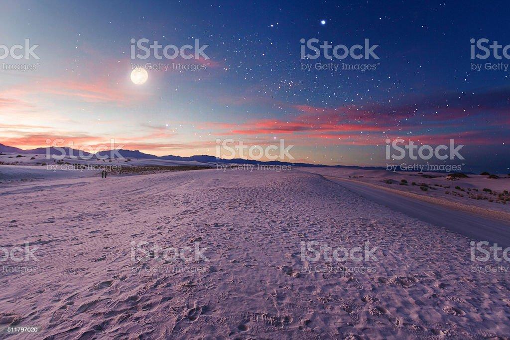 Moon gazers stock photo